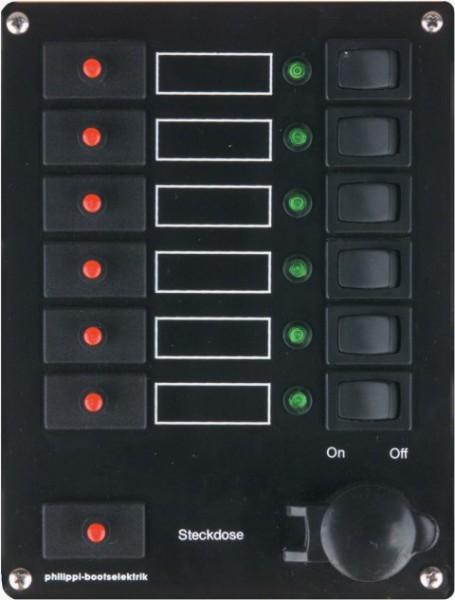 Philippi Stromkreisverteiler STV 106/1 mit abgesich. Kleinsteckdos