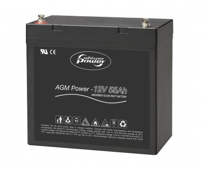 Whisper Power AGM Batterie 12 V, 55 Ah