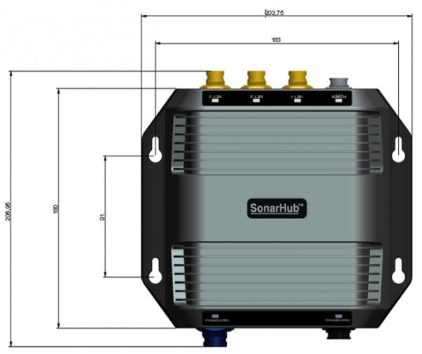Navico SonarHub Modul inkl. Airmar TM150 Chirp und LSS-2 StructureScan