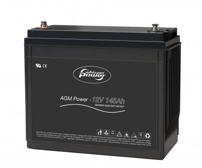 Whisper Power AGM Batterie 12 V, 145 Ah