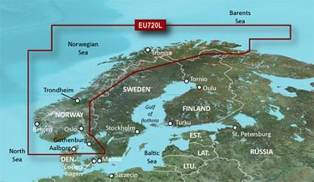 010-C1148-20 Garmin Bluechart EU720L Norwegen