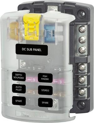 BS5025 Sicherungsblock 6 Schaltkreise für ATO/ATC Sicherungen von BlueSea