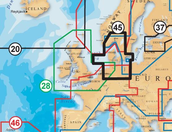 Navionics Plus Skagerrak & Kattegat Seekarte bestellen
