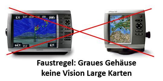 Bluechart Vision G3 Large Karte - Kompatibilität