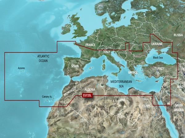 VEU723L Bluechart Vision Südeuropa von Garmin