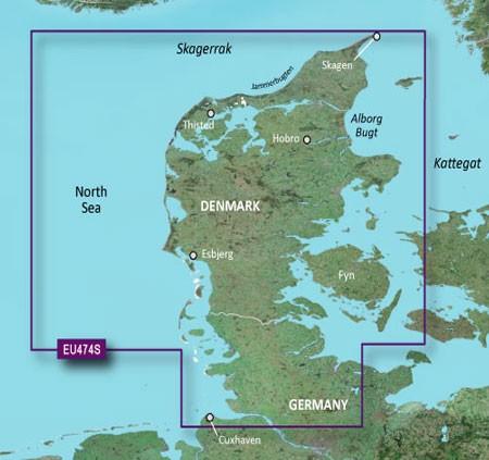 HXEU474S BlueChart g2 HD Nord Dänemark und Eider von Garmin