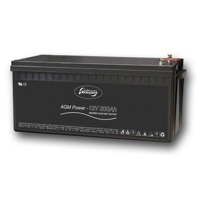 Whisper Power AGM Batterie 12 V, 200 Ah