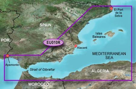 HXEU010R BlueChart g2 HD Spanische Mittelmeerküste