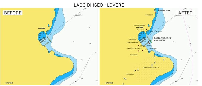Navionics Seekarte Iseo See
