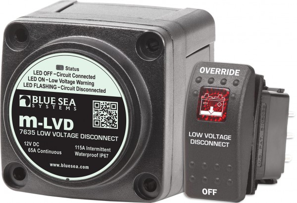 Blue Sea 7635 Automatischer Trennschalter/Tiefentladeschutz M-LVD