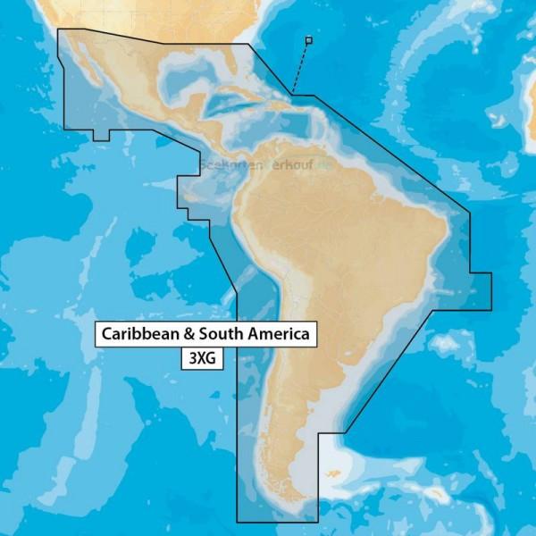 3XG Navionics+ Karibik und Südamerika
