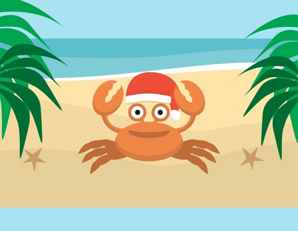 Funny-Crab-Beach-Christmas-Card-1