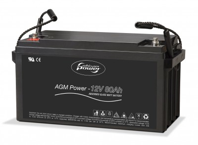 Whisper Power AGM Batterie 12 V, 80 Ah