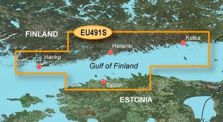 HXEU491S BlueChart g2 HD Finnischer Meerbusen von Hanko bis St. Petersburg