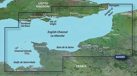 HXEU456S BlueChart g2 HD Solent und Kanalinseln von Garmin