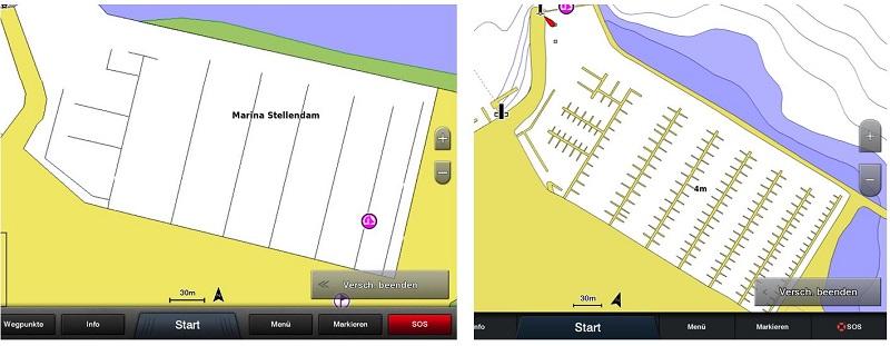 Bluechart G3 - besserer Detailgrad im Hafen