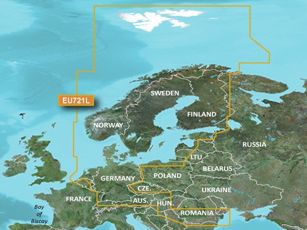 Garmin VEU721L BlueChart g2 Vision Nordeuropa