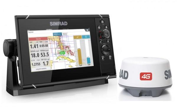 Simrad NSS7 evo3 Multifunktionsdisplay mit Broadband Radar 4G