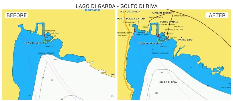 Navionics Seekarte Gardasee
